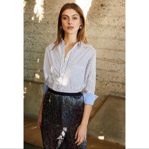 🦚🆕 Joie ❃ Intricate Bead Pencil Skirt ❃Navy Blue